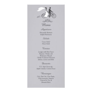 25 Bicycle for Two Wedding Reception Menu Cards Custom Rack Card