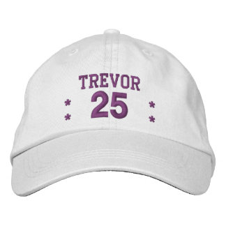 25 Birthday Custom Name PURPLE Embroidery V61C Embroidered Hat