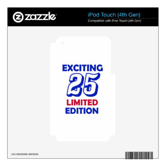25 birthday design skins for iPod touch 4G