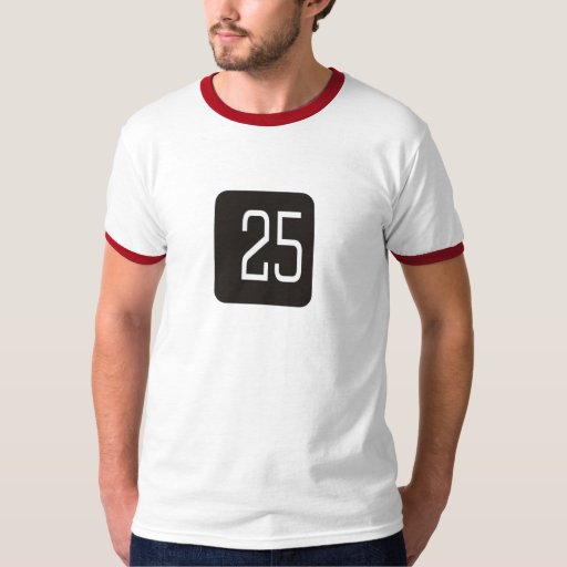 #25 Black Square T Shirt