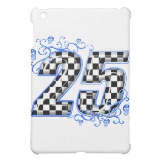 25 blue racing number iPad mini case