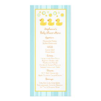 25 burbujas Ducky de goma de las tarjetas del menú Plantillas De Lonas