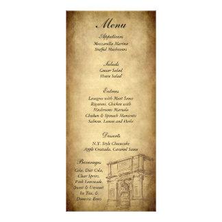 25 casandose en etiquetas del menú de Roma Lona Publicitaria
