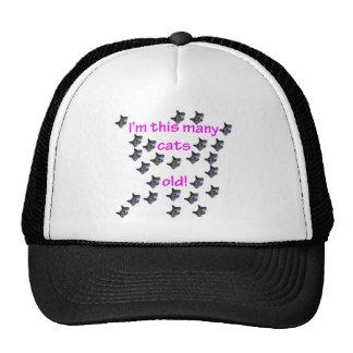 25 Cat Heads Old Trucker Hats