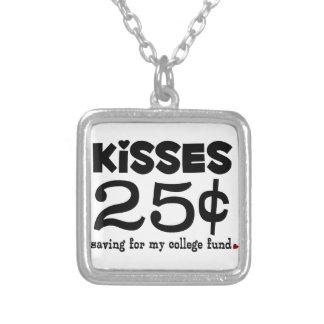 25 Cents Kisses Necklaces