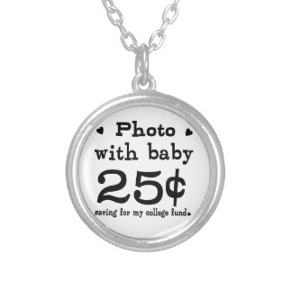 25 Cents Photo With Baby Necklace