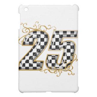 25 checkers flag number iPad mini covers