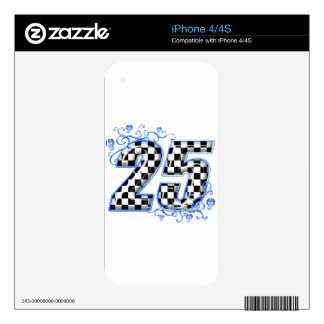 25 checkers flag number skin for the iPhone 4S