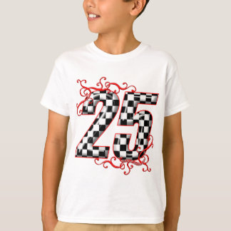 25 checkers flag number T-Shirt