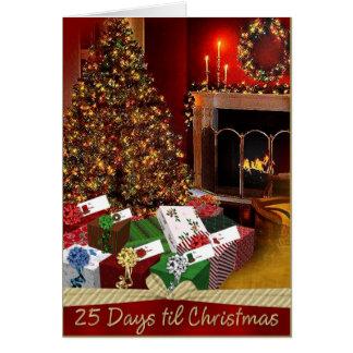25 Days til Chritsmas Greeting Card