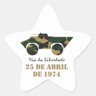 25 de Abril is Dia da Liberdade (Freedom Day) Star Sticker