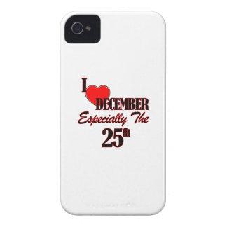 25 de diciembre diseños iPhone 4 Case-Mate cárcasas