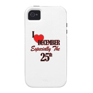 25 de diciembre diseños iPhone 4 fundas