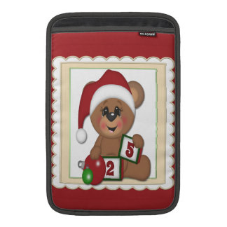 25 de diciembre oso de peluche en el gorra de San Funda MacBook