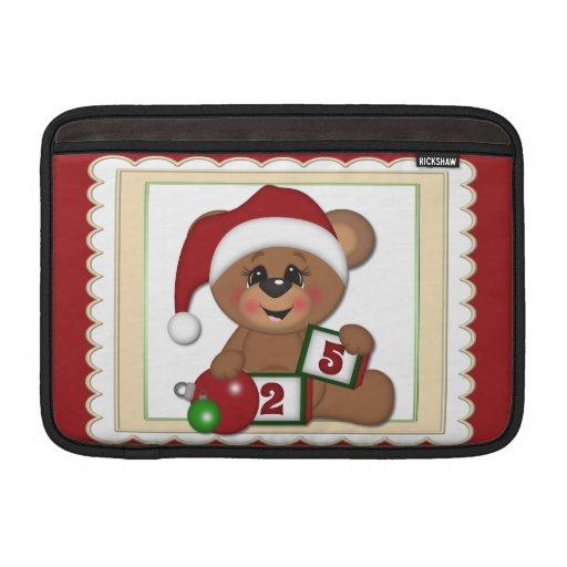 25 de diciembre, oso de peluche en el gorra de San Funda MacBook