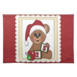 25 de diciembre, oso de peluche en el gorra de San Manteles
