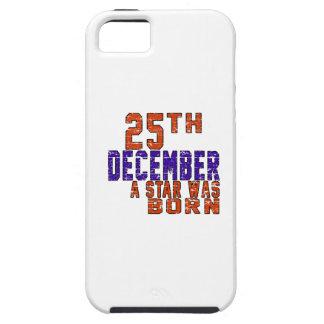25 de diciembre una estrella nació iPhone 5 carcasa