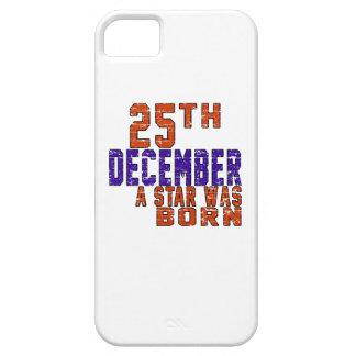 25 de diciembre una estrella nació iPhone 5 Case-Mate carcasa