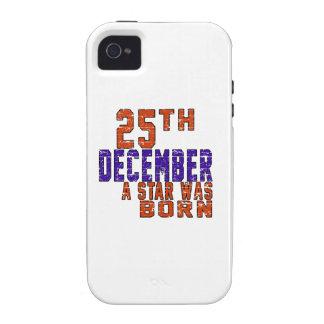 25 de diciembre una estrella nació iPhone 4/4S carcasa