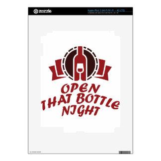 25 de febrero - abra esa noche de la botella pegatina skin para iPad 3