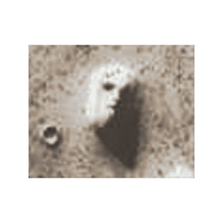 25 de julio de 1976 imagen de la órbita 1 de Vikin Impresión En Lona