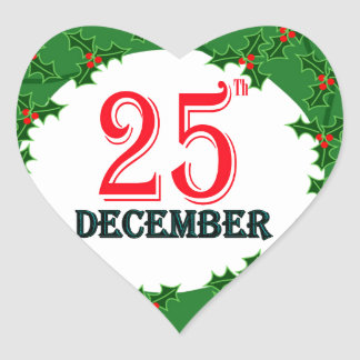 25 December 2015 Image Heart Sticker