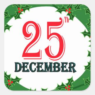 25 December 2015 Image Square Sticker