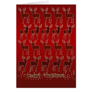 25 Deers Christmas Card