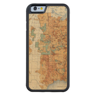 25 Density of increase of population, US, 18901900 Carved Maple iPhone 6 Bumper Case