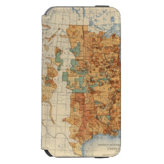 25 Density of increase of population, US, 18901900 iPhone 6/6s Wallet Case