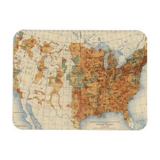25 Density of increase of population, US, 18901900 Rectangular Magnets