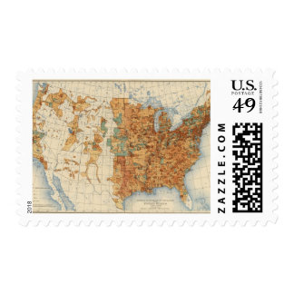 25 Density of increase of population, US, 18901900 Stamp
