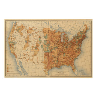 25 Density of increase of population, US, 18901900 Wood Print