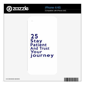 25 diseños del cumpleaños de la leyenda del iPhone 4S calcomanía