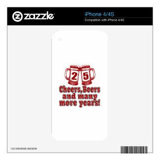 25 diseños del cumpleaños de las cervezas de las calcomanías para iPhone 4S