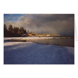 25. El lago Tahoe tempestuoso, California Tarjeta De Felicitación