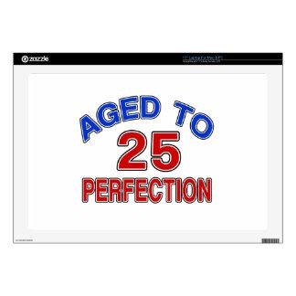 25 envejecido a la perfección 43,2cm portátil calcomanías