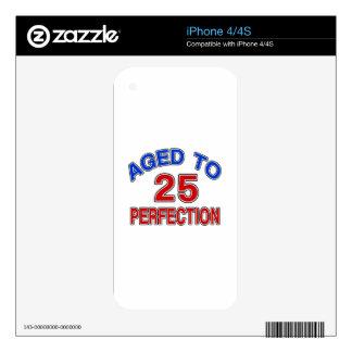 25 envejecido a la perfección calcomanía para el iPhone 4