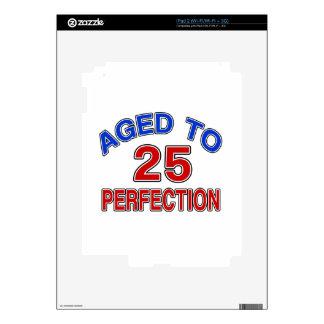 25 envejecido a la perfección calcomanía para iPad 2