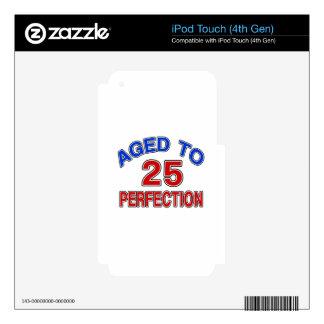 25 envejecido a la perfección iPod touch 4G calcomanía