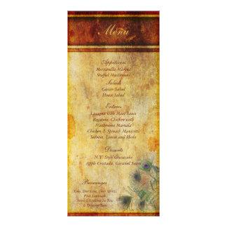 25 etiquetas del menú del boda de la pluma del pav tarjeta publicitaria personalizada