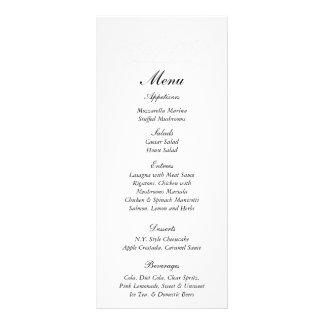 25 etiquetas elegantes del menú de la bodas de pla tarjetas publicitarias
