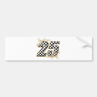 25 gold.png bumper sticker