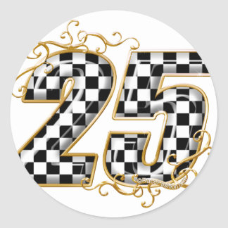 25 gold.png classic round sticker