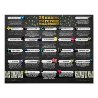 25 Habits of a Future Millionaire Poster