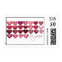25 hearts for 25 years postage
