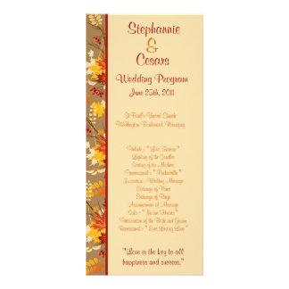 25 hojas de la rama del otoño del programa del bod tarjetas publicitarias a todo color