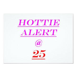 25 Hottie Alert Card