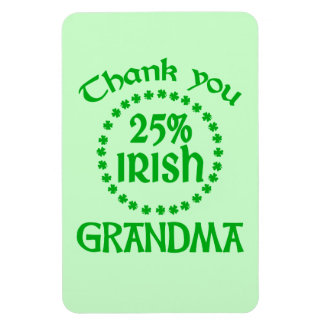 25% Irish - Thank You Grandma Magnet
