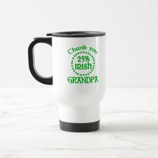25% Irish - Thank You Grandpa 15 Oz Stainless Steel Travel Mug